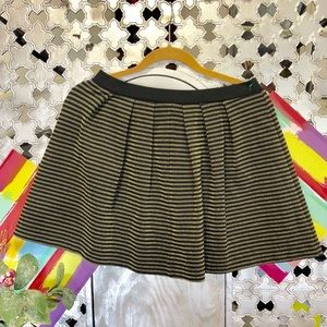 French Connection Gold and Black Stripe Skirt